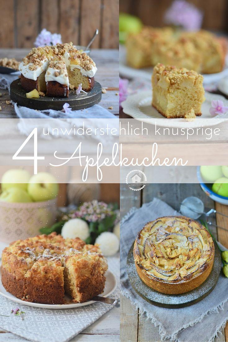 Die vier besten und knusprigsten Apfelkuchen aus dem Knusperstübchen #apple #cake #herbst #apfelkuchen #knusper