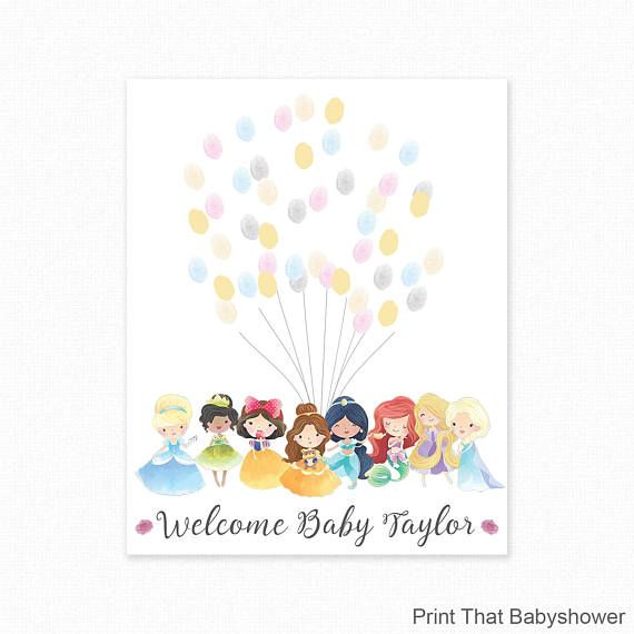 Princess Tiara Baby Shower Guestbook CANVAS Wall Art