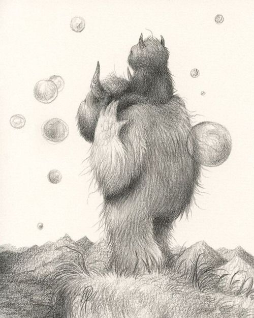 Bubble Breeze - graphite on arches aquarelle paper. Drawing... #Dan_May_Art #Arsetculture #Tumblr_Curator