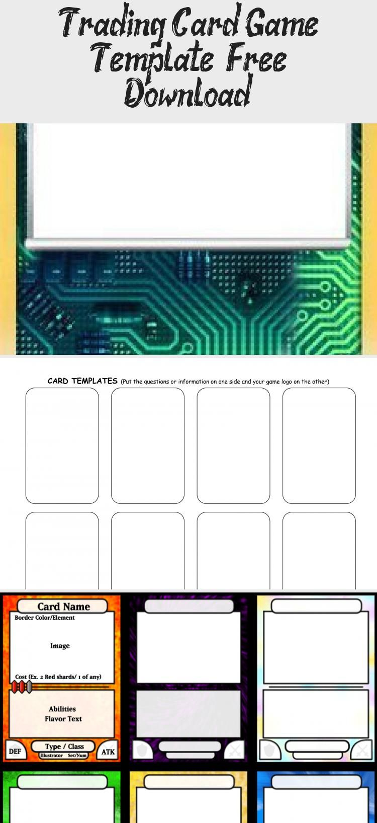 Trading Card Game Template Free Download Birthdaycardsonline Card Games Trading Cards Game Online Card Games