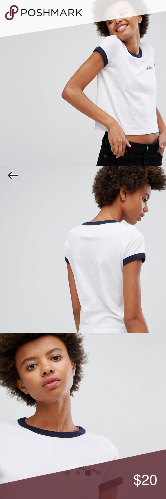 ASOS Whatever T Shirt With Contrast Banding Worn 3 time but still in great condition ASOS Tops Tees - Short Sleeve