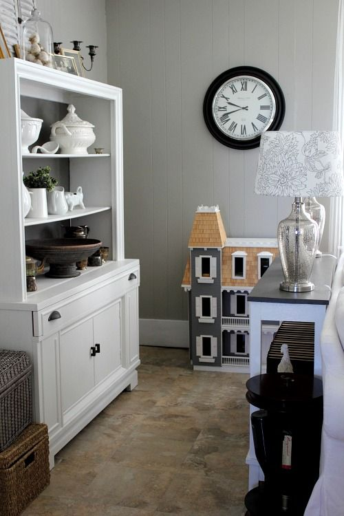 Grey Living Room Before and After - The Creek Line House I LOVE