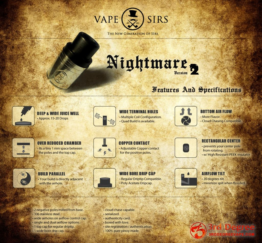 Nightmare Atomizer Nightmare Vape
