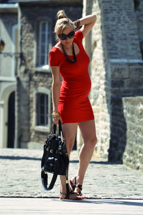 Robe rouge h&m 2015