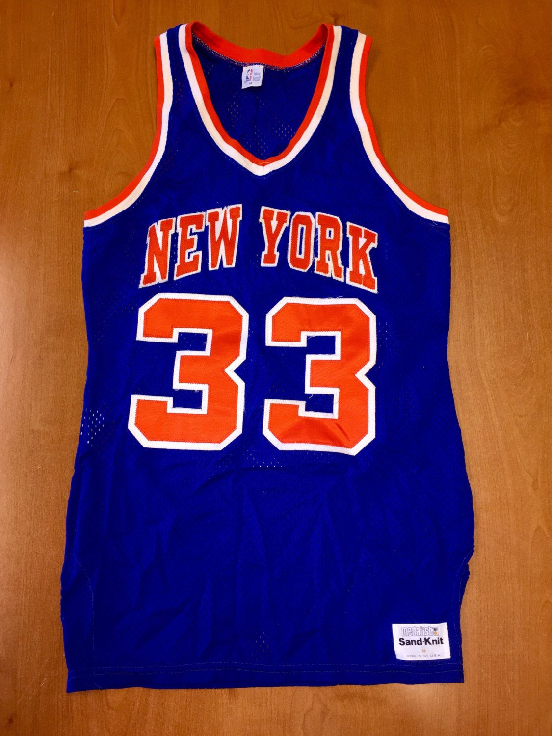 low priced eb671 64803 Vintage 1980s Patrick Ewing New York Knicks Sand Knit Jersey ...