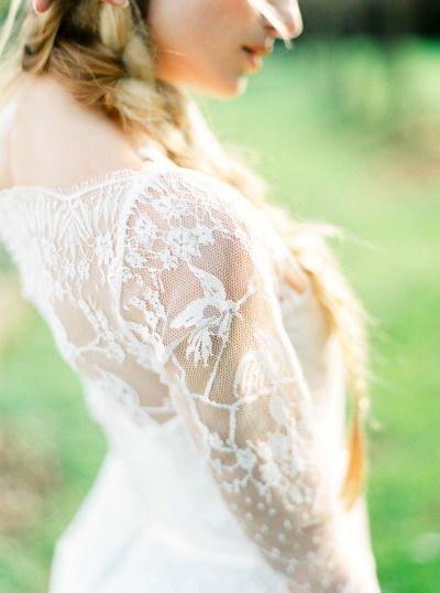Lace sleeves: http://www.stylemepretty.com/little-black-book-blog/2015/05/18/organic-seaside-wedding-inspiration/   Photography: Brancoprata - http://www.brancoprata.com/