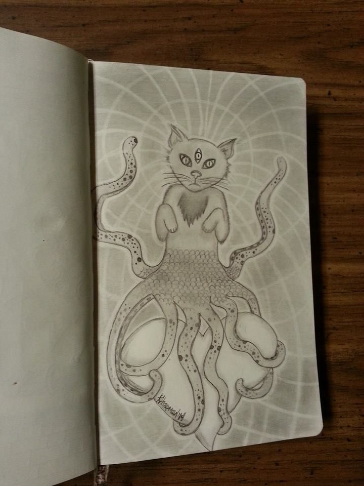 """Dimensional Kitteh"" By Kristie Whitaker"