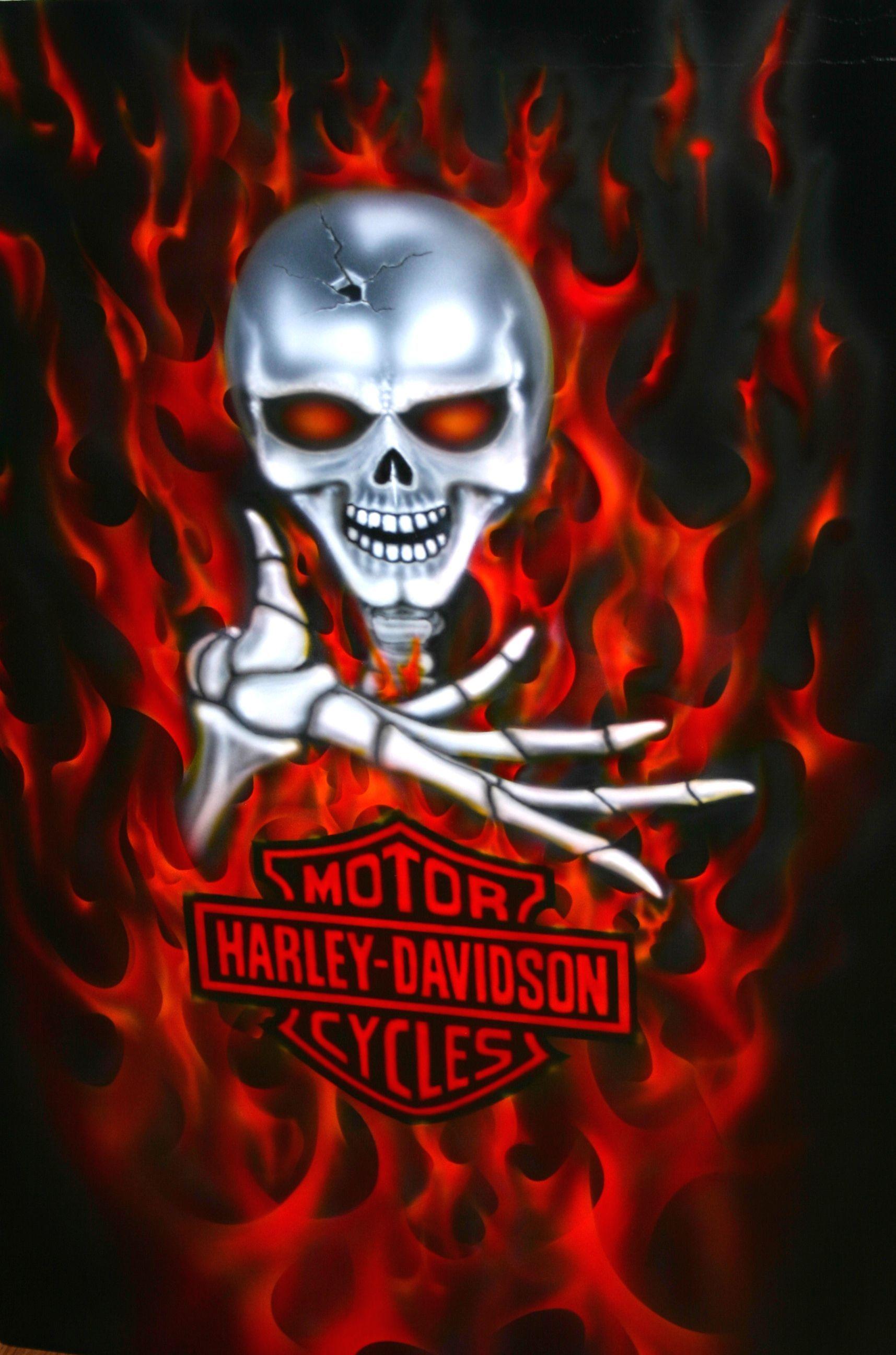 harley davidson skull logo ripped metal effect on this. Black Bedroom Furniture Sets. Home Design Ideas