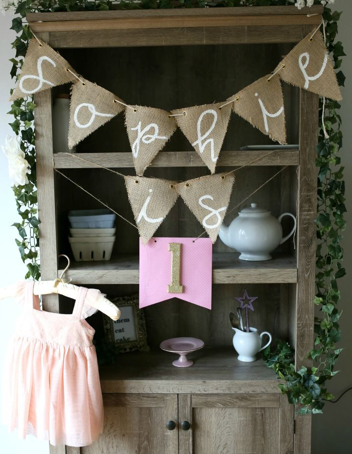Wonderful First Birthday Party Decor | Baby Is One Decor | DIY Party Banner | DIY  Party