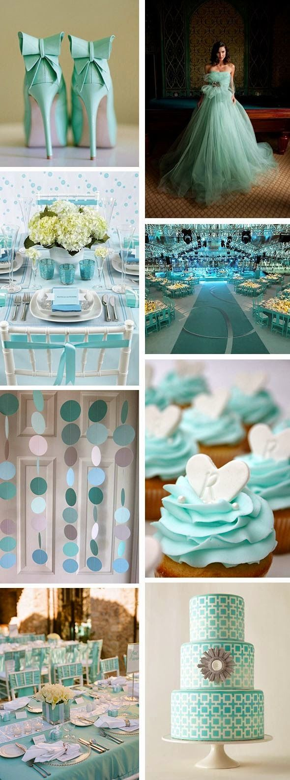 Light blue wedding decoration ideas  There isnut a woman around who doesnut recognize the exact shade of