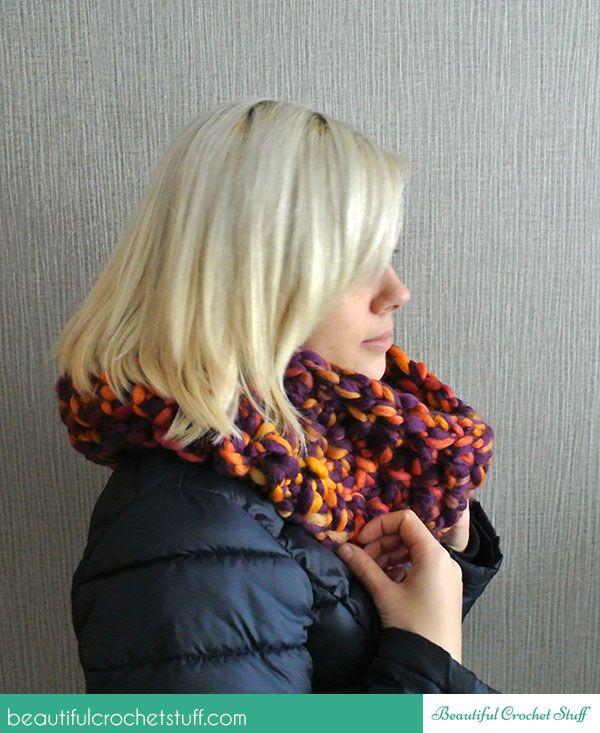 Free Finger Crochet Scarf Pattern | Crochet Stuff | Pinterest ...