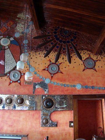 Ngorongoro Wildlife Lodge mural dining 7