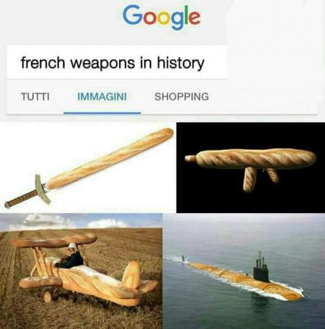 The Baguettes Are Going To Be The Most Dangerous Army Ever Funny Meme Pictures Funny Pictures History Memes