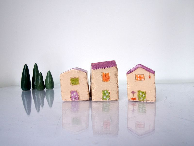 Croatian+village+set+-+Ceramics+Minature+houses+from+VitezArtGlassDesign+by+DaWanda.com