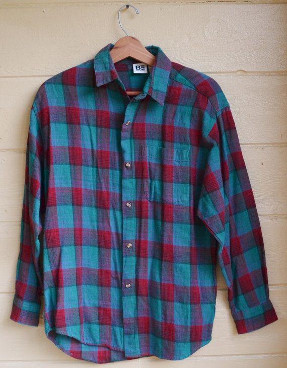 Vintage Plaid Flannel Shirt by Basic Editions by founditinatlanta eeb60aa2e