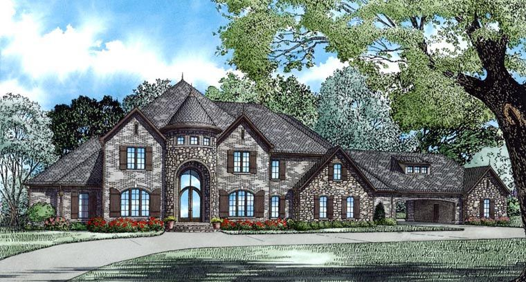 Tudor Style House Plan 82177 With 4 Bed 5 Bath 3 Car Garage Luxury House Plans Luxury Plan Monster House Plans