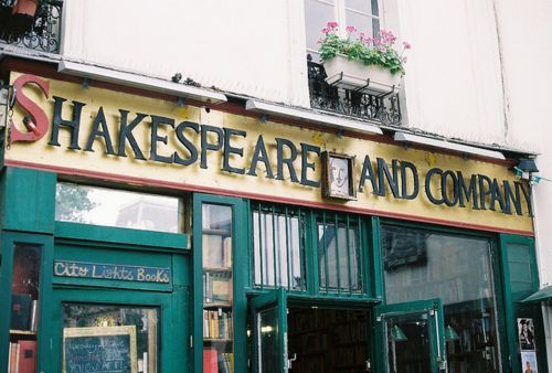 Shakespeare and co - the ultimate library/bookstore.