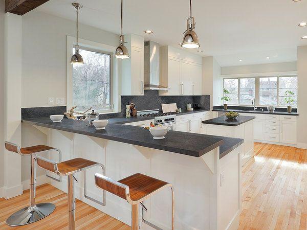 Encimera a doble altura buscar con google casa - Altura encimera cocina ...