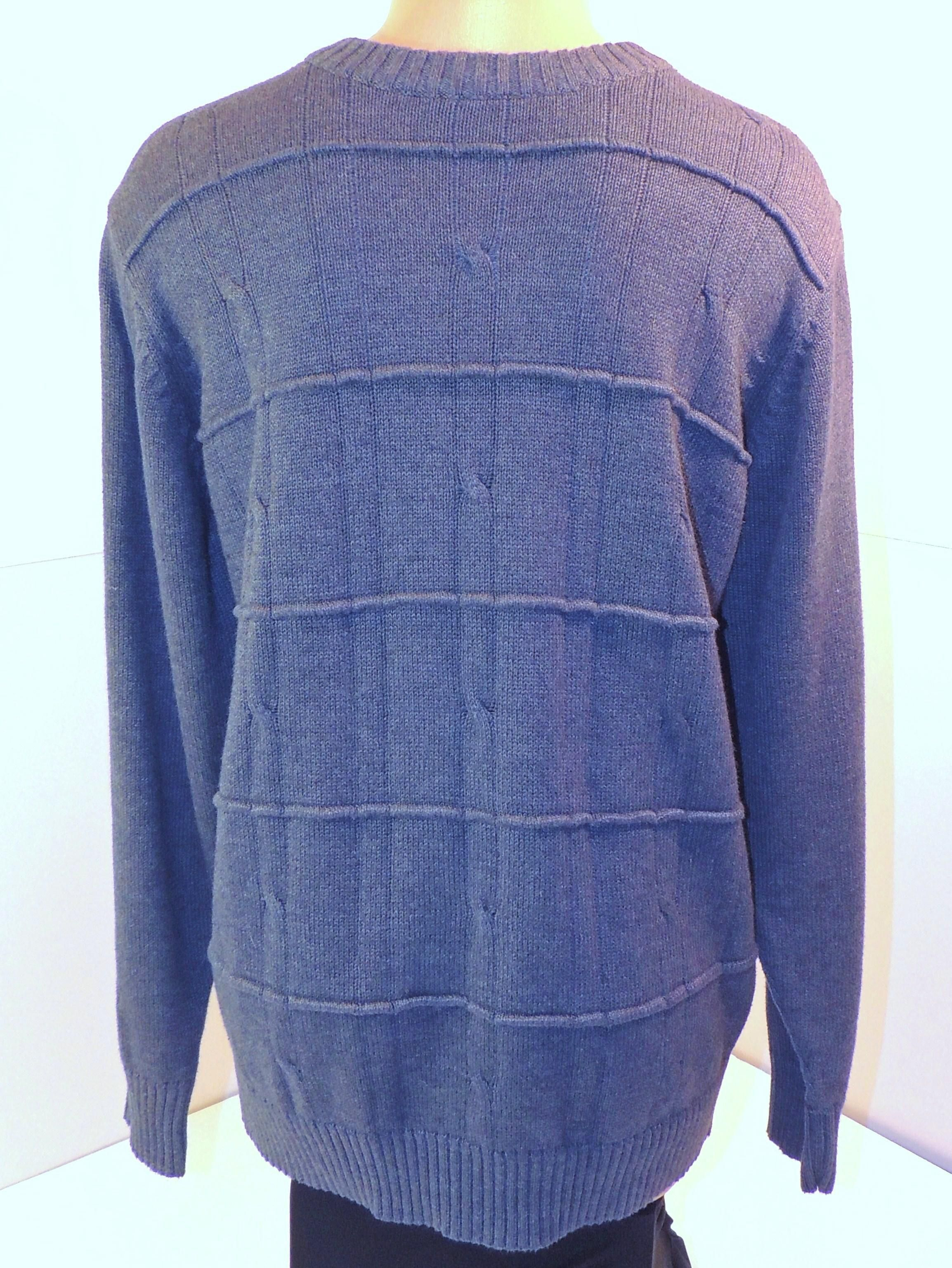 Men's Oscar de la Renta Heather Blue Sweater Sz M ...