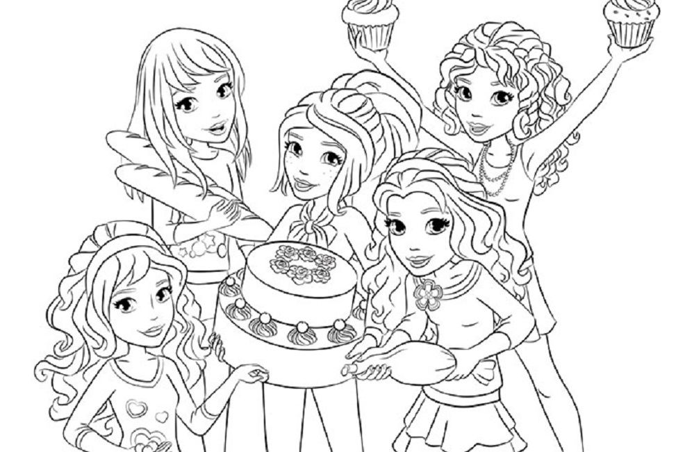coloring page coloring page lego friends