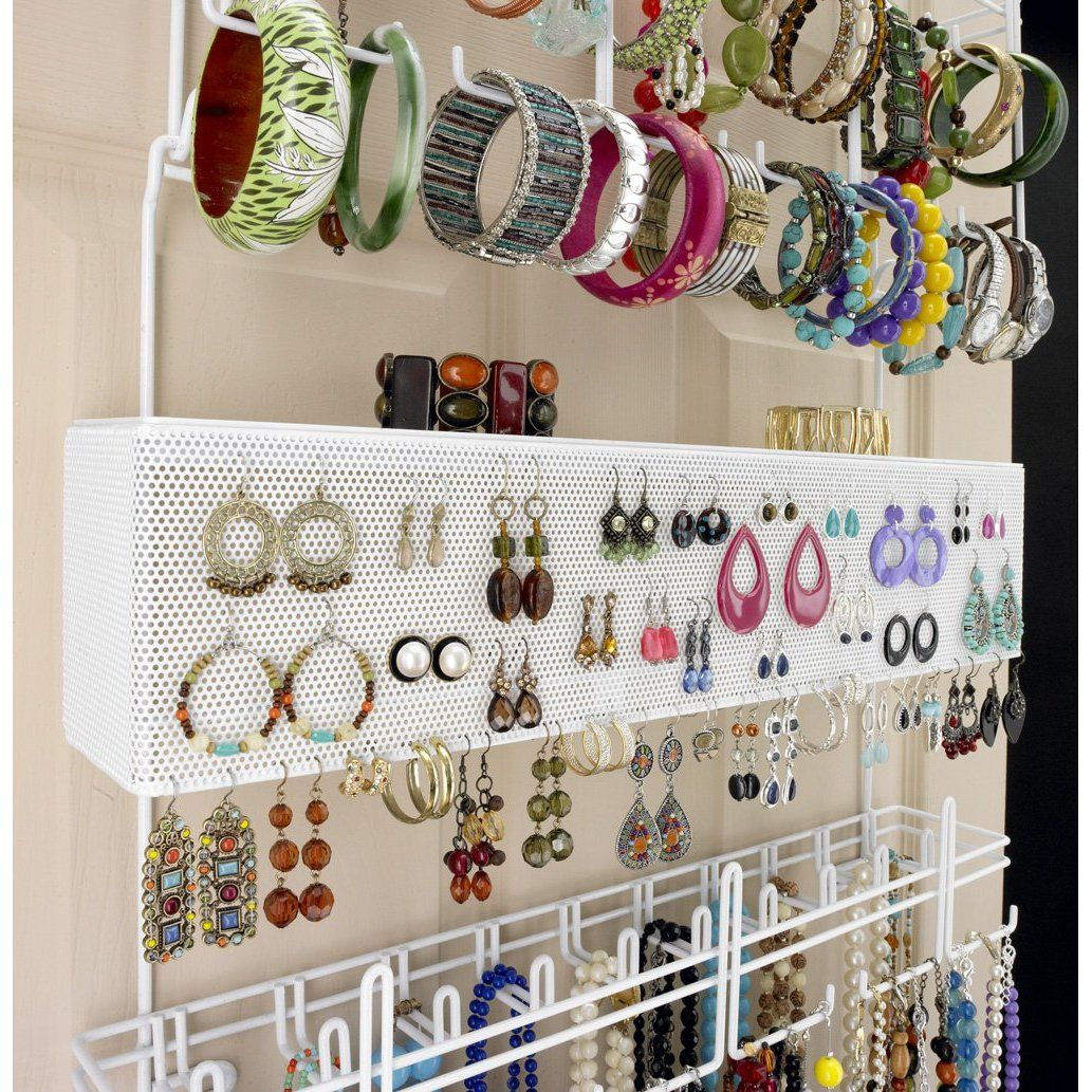 Over-the-door jewelry organizer   Jewelry organizer wall ...