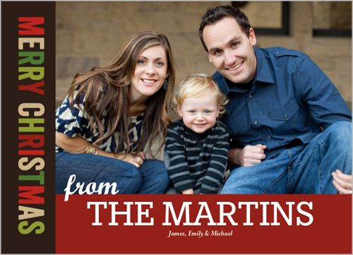 Big Name 5x7 Photo Card by Shutterfly Shutterfly Holidays