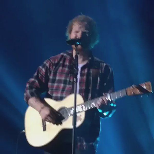 """Ed Sheeran Updates on Twitter: """"If you feel sad that Ed isn't back yet.. Just think about the time he sneezed on stage.. Instant happiness ☺️ https://t.co/cRZRMeT7KM"""""""