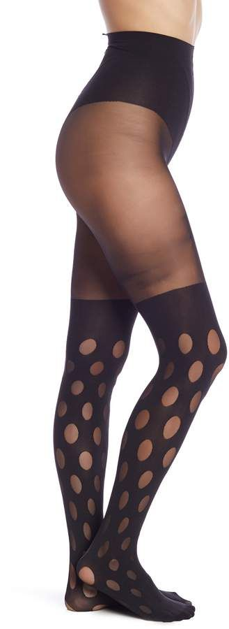 4ee470285bc Pretty Polly House of Holland Reverse Dot Trompe l Oeil Tights  House  Holland Pretty