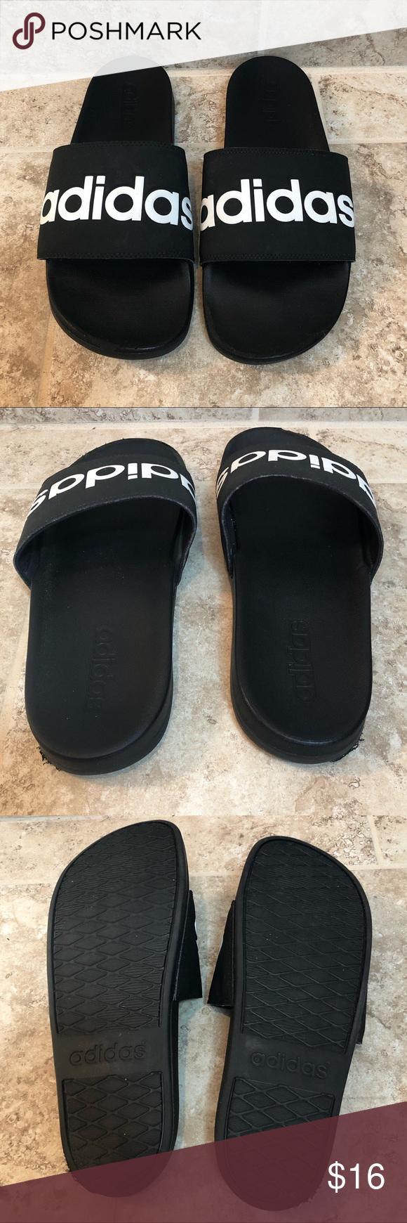 Adidas Slides Size 9 Attributes: Men's size 9 Adidas