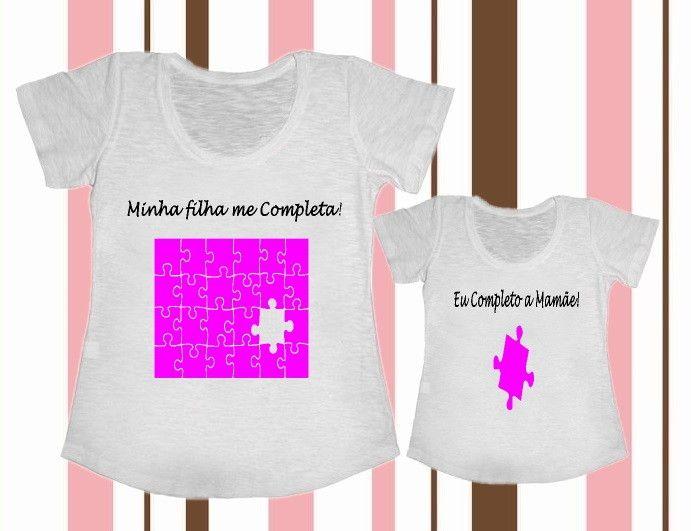 67066727a Kit Camisetas Tal Mãe Tal Filha