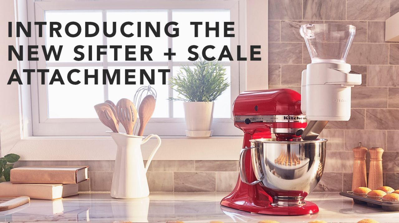 Introducing the new kitchenaid sifter scale attachment