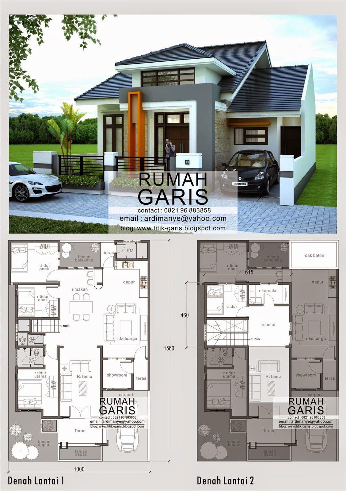Desain Model Denah Dan Tampak Rumah 2 Lantai Di Makassar Rumah