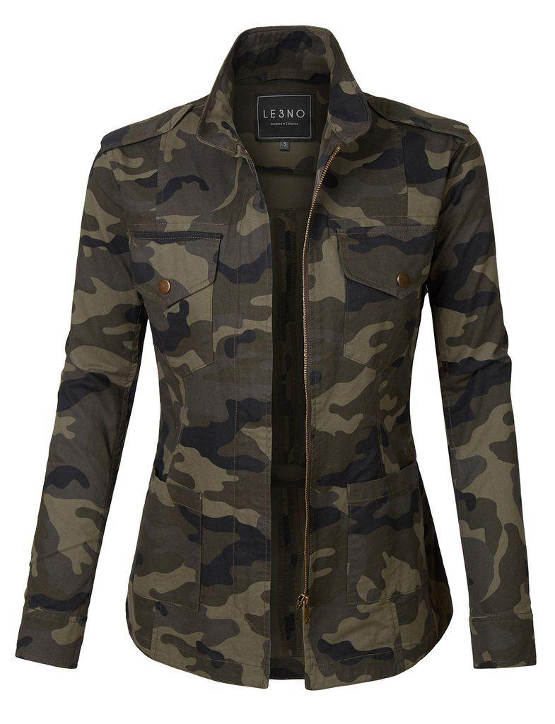 Army camo jacket women
