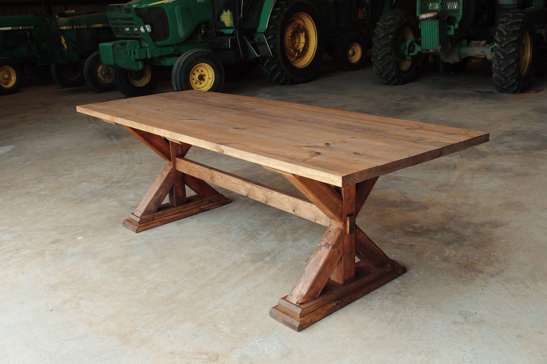 Rustic Farm Table Cross Leg Farmhouse Table Texas Delivery Etsy Wood Table Legs Farm Table Rustic Farm Table