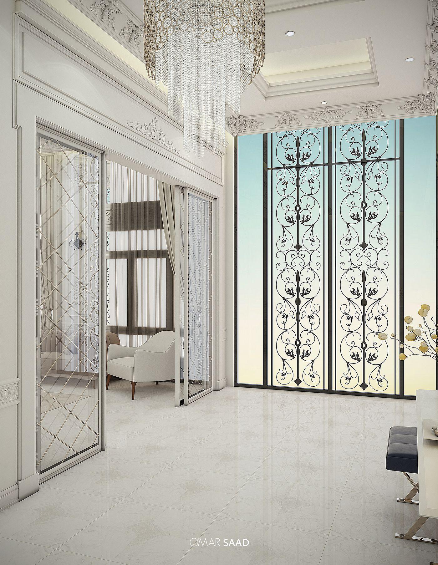 Luxury Classic Villa Interior Design On Behance Interior Design Career Classic Interior Design Interior Design