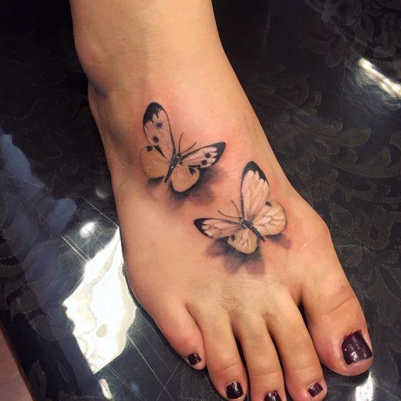 Photo of Tattoo; Butterfly Tattoo; Small Tattoo; Back Tattoo; Arm Tattoo;Meaningful Tatto…