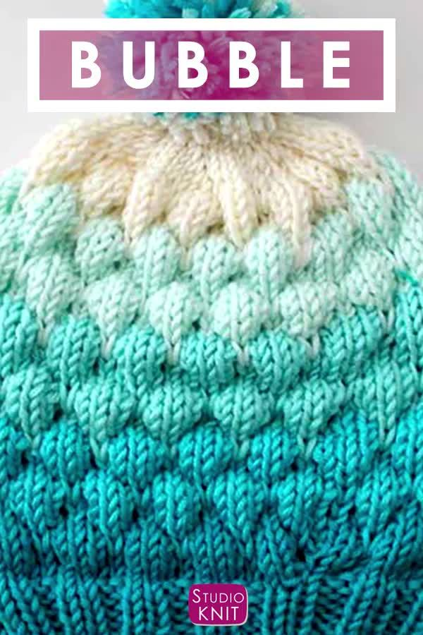 Photo of Bubble Beanie Hat Pattern for Knitters