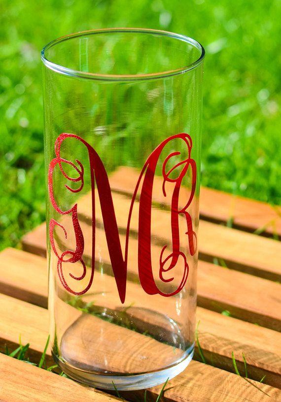 Personalized Vase Wedding Vase Monogram Vase By Downsouthmonogram