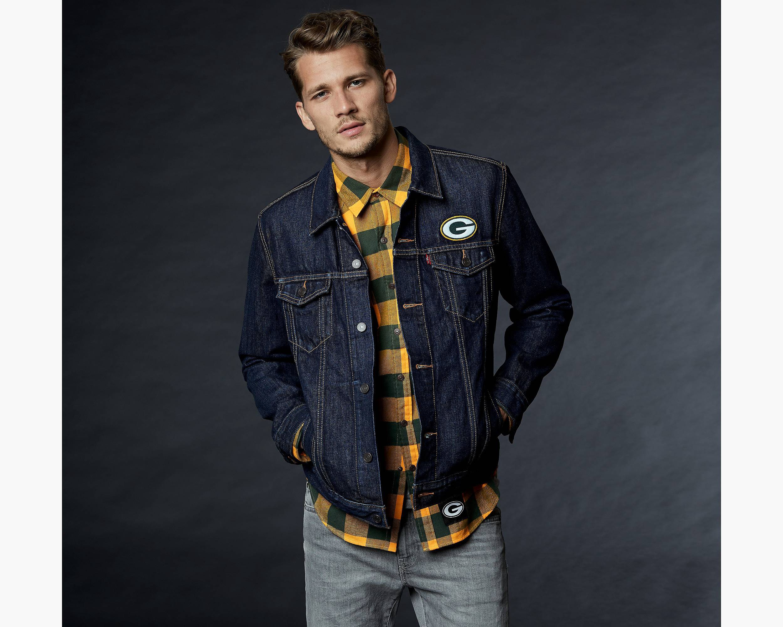 LEVI'S LEVI'S® NFL DENIM TRUCKER JACKET GREEN BAY