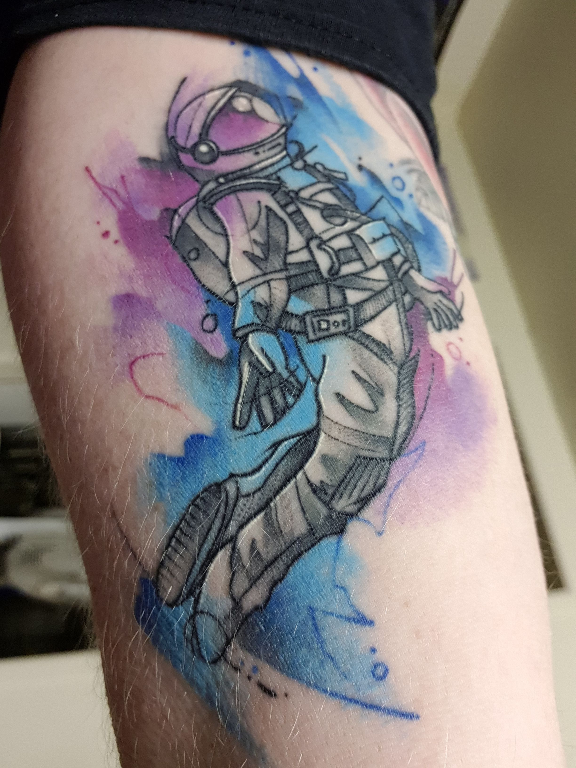 Astronaut By Ali At Serpents Ink Gold Coast Qld Aust