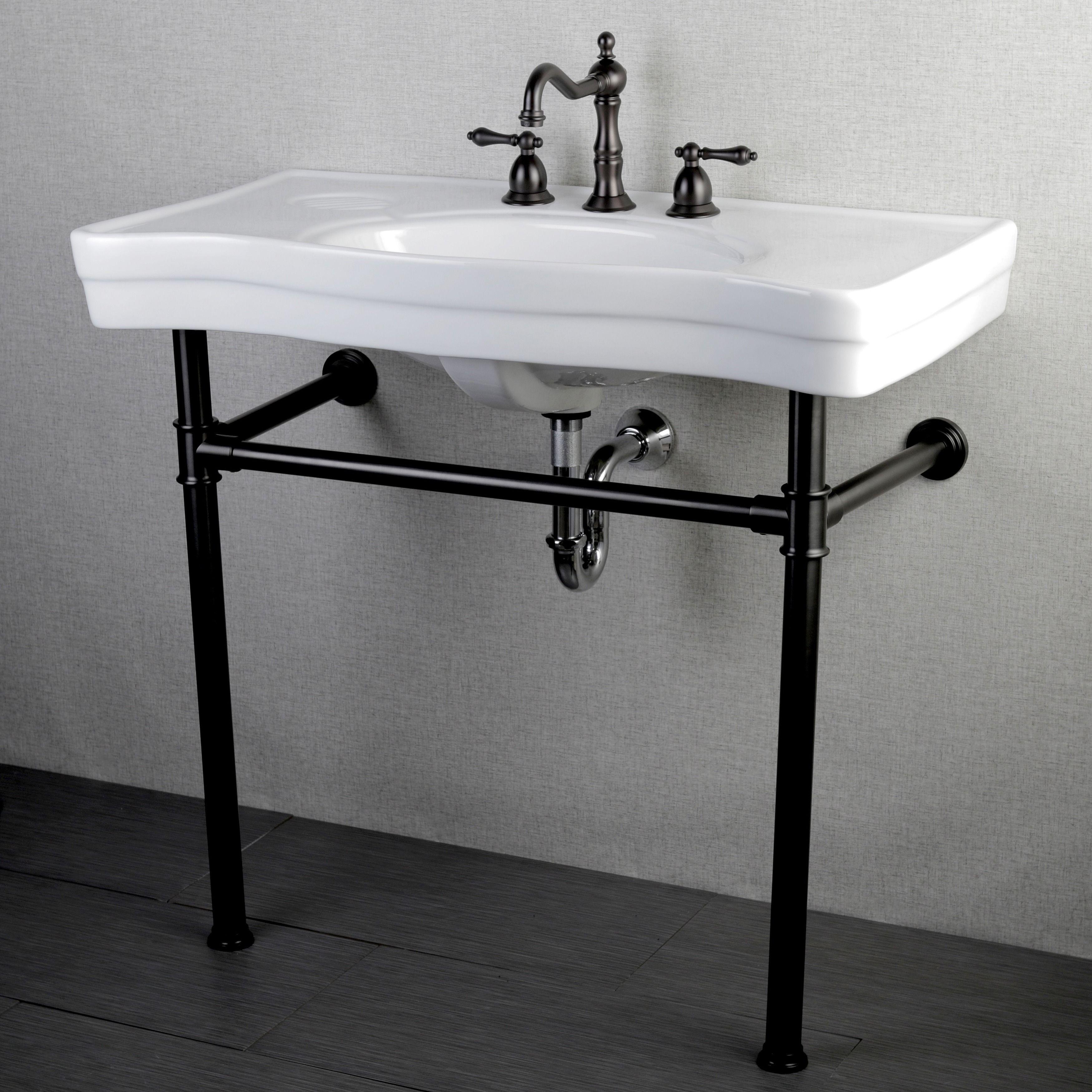 pedestal sink or vanity in small bathroom%0A Imperial Vintage Oil Rubbed Bronze Pedestal Bathroom Sink Vanity   Overstock Shopping  Great Deals on Bathroom Sinks