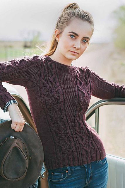 Ravelry: Free Falling Pullover pattern by Linda Marveng
