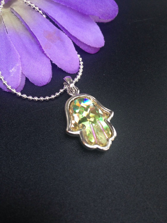 3fa9eaf167d9d Swarovski Crystal Hamsa Necklace Hand Necklace, Swarovski Hamsa ...
