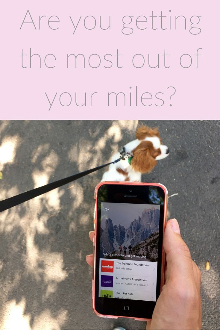 Charity Miles is an iPhone and Android app that lets you