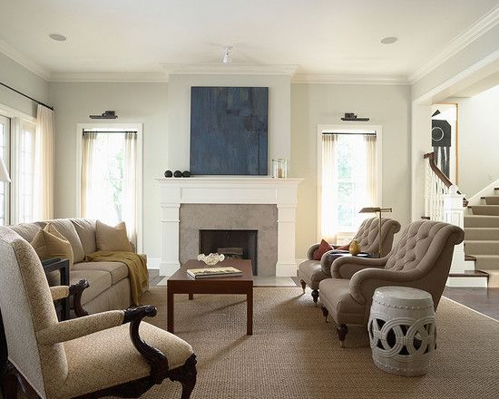 Traditional Living Room Fireplace