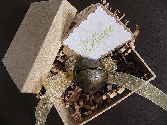 Antique Sleigh Bell Ribbon and Tag Believe by SongSparrowTreasures $35