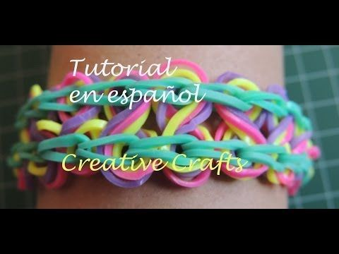 tutorial pulsera de gomitas rainbow loom taffy twist en espa ol rh pinterest com Rainbow Loom Zippy Change Manual Rainbow Loom Bracelet Kit