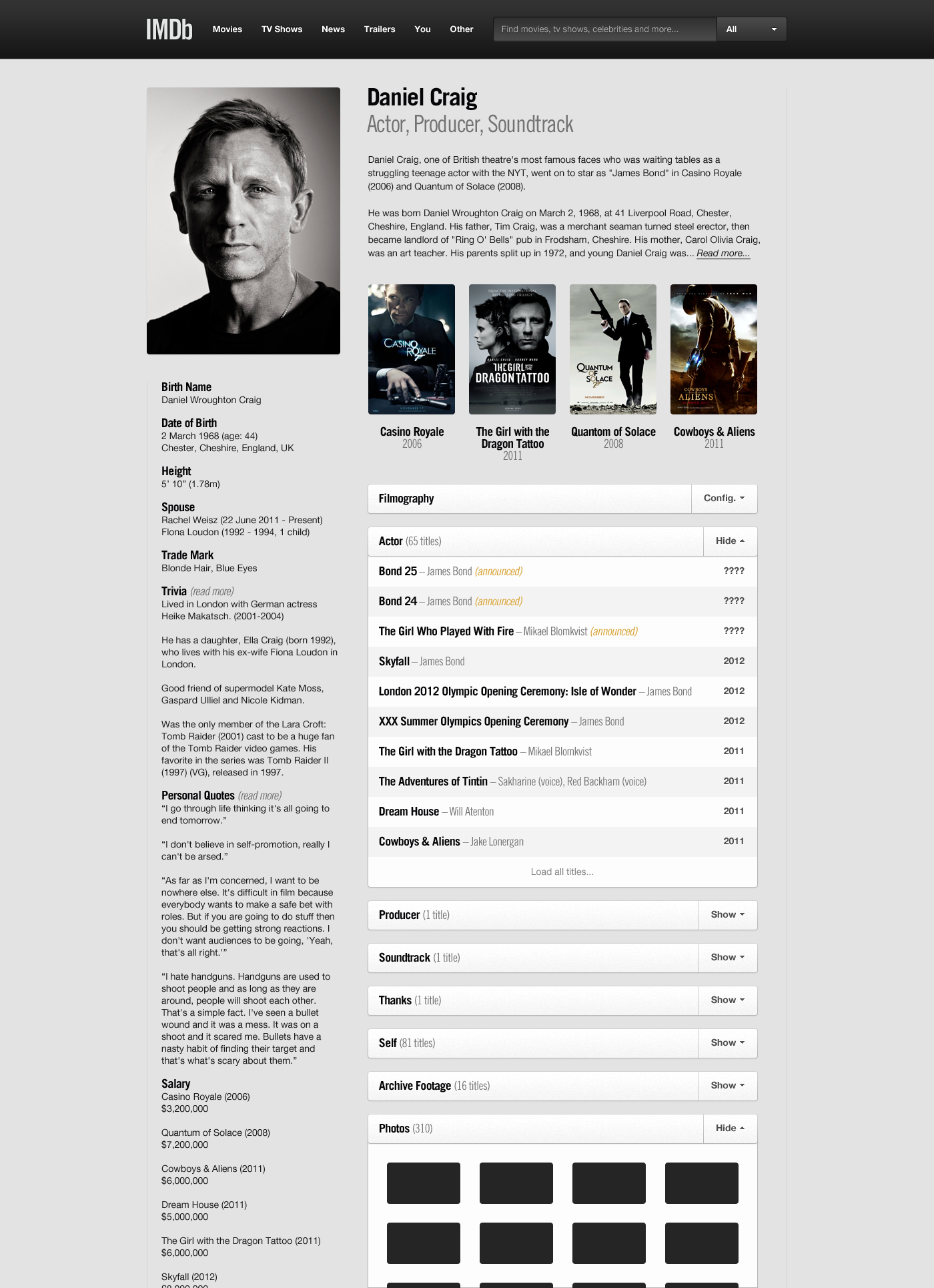 Web Design Imdb Movies Cowboys Aliens
