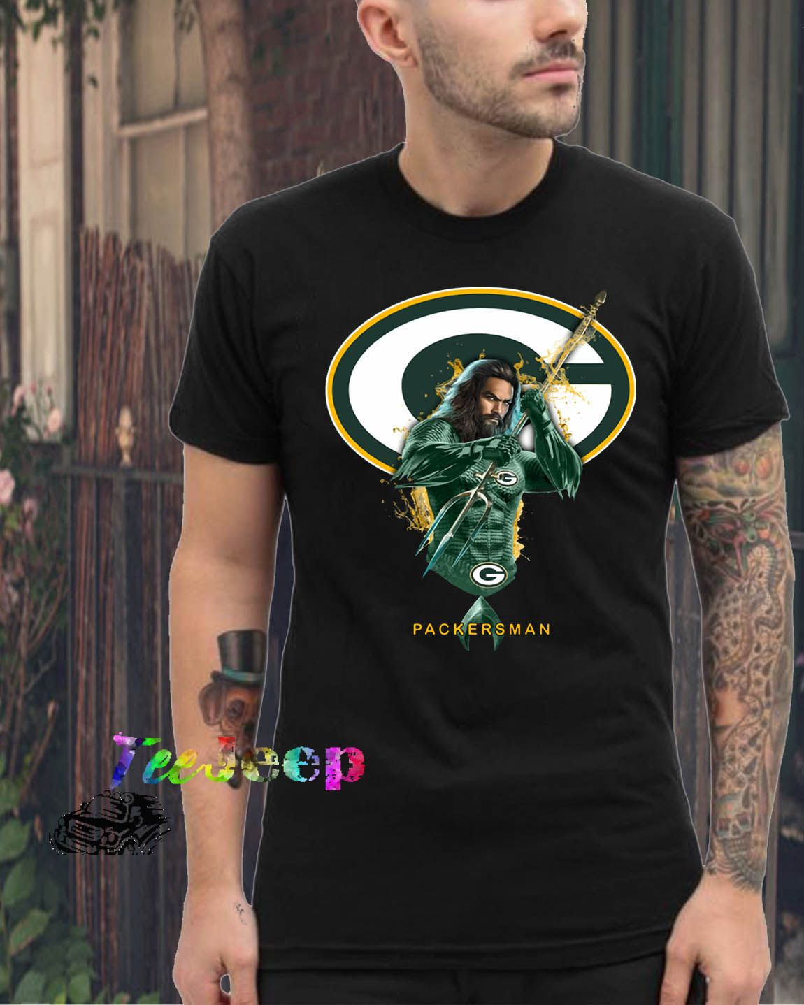 Packersman Aquaman And Packers Football Team TShirt