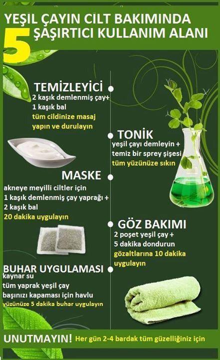 yeşil çay mucizesi #ciltbakımı